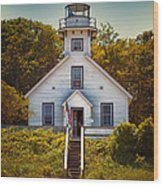 Old Mission Point Light House 02 Wood Print