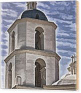 Old Mission San Luis Rey Tower - California Wood Print
