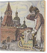 Old Moscow - Bubliki Wood Print