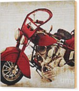 Old Motor-bike Wood Print by Angela Doelling AD DESIGN Photo and PhotoArt