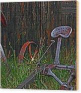 Old Mower Wood Print