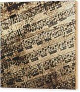 Old Music Wood Print