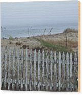 Old Nantucket Fence Wood Print