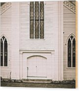 Old New England Gothic Church Wood Print