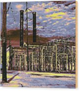 Old New Orleans Electric Plant Wood Print