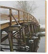 Old North Bridge Wood Print by Allan Morrison