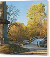 Old North Bridge Wood Print by Brian Jannsen