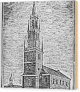 Old North Church, 1775 Wood Print