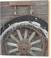 Old Old Tire Wood Print