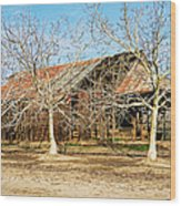 Old Orchard Barn Wood Print