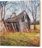 Old Ozark Home Wood Print
