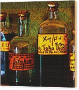 Old Pharmacy Bottles - 20130118 V1b Wood Print