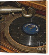 Old Phonograph Wood Print
