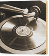 Old Phonograph Wood Print by Mike McGlothlen