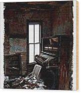 Old Piano Card Wood Print