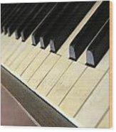 Old Piano Wood Print