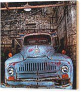 Old Pickup Truck Hdr Wood Print
