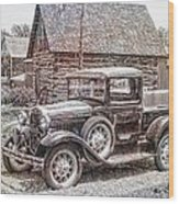 Old Pickup Truck Wood Print