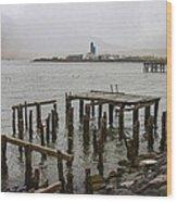 Old Pier In Siglufjordur Wood Print