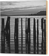 Old Pilings On Puget Sound - Tacoma - Washington - August 2013 Wood Print