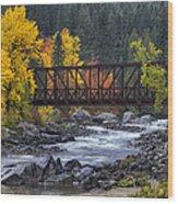 Old Pipeline Bridge Wood Print