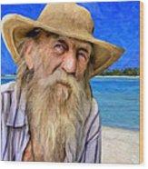 Old Pirate Bill Wood Print