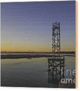 Old Pit Street Bridge To Ravenel Bridge Wood Print