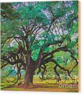 Old Plantation Oak Wood Print