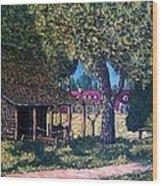 Old Plantation Tool House Wood Print