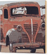 Old Plymouth Trucks Wood Print