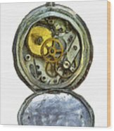 Old Pocket Watch Wood Print