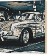 Old Porsche No.3 Toned Wood Print