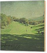 Old Postcard Of Golf Buddies At The Homestead Wood Print