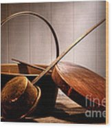 Old Pots And Pans Wood Print by Olivier Le Queinec
