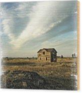 Old Prairie Homestead Wood Print