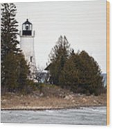 Old Presque Isle Lighthouse Wood Print