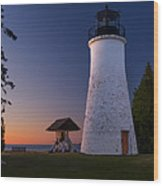 Old Presque Isle Lighthouse Wood Print by Thomas Pettengill