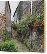 Old Quarter Of La Roche Bernard Wood Print