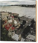 Old Quebec City By St.lawrence Wood Print