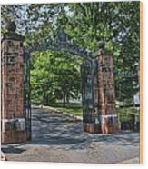 Old Queens Entrance Gate Wood Print