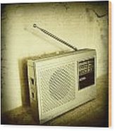 Old Radio Wood Print