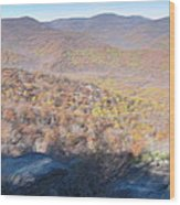 Old Rag Hiking Trail - 121231 Wood Print by DC Photographer