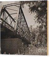 Old Rail Bridge Wood Print