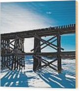 Old Rail Tressel Wood Print by Gerald Murray Photography