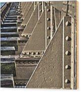 Old Railway Bridge In The Netherlands Wood Print