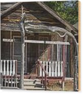 Old Ranch Cabin In Antique Color 3008.02 Wood Print