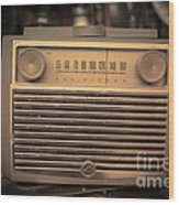 Old Rca Victor Antique Vintage Radio Wood Print