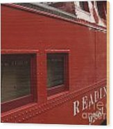 Old Reading Rr Caboose In Lititz Pa Wood Print