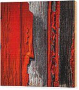 Old Red Barn One Wood Print
