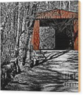Old Red Bridge Wood Print